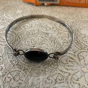 925 Silver Bracelet With A Onyx Stone